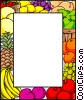 Vector Clipart graphic  of a Fruit border