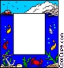 Vector Clipart graphic  of a Marine border