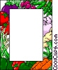 Vegetable border Vector Clipart picture