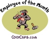 Employee of the month Vector Clipart illustration