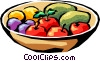 Vector Clipart graphic  of a Fruit bowl