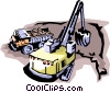 Vector Clip Art image  of a Front-end loaders