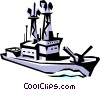 Vector Clip Art picture  of a Naval ships