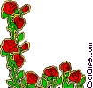 Vector Clip Art image  of a Rose design