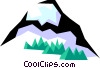 Vector Clipart illustration  of a Mountain