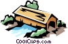 Covered bridges Vector Clip Art image