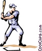 Baseball player Vector Clip Art picture