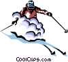 Vector Clip Art picture  of a Skier