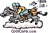 Vector Clip Art graphic  of a Pony Express