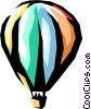 Hot air balloons Vector Clipart illustration