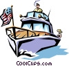 Pleasure boat Vector Clipart image