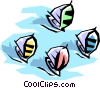 Vector Clip Art graphic  of a Sailboats