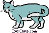 Vector Clipart graphic  of a Cartoon cat