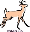 Vector Clip Art graphic  of a Cartoon deer