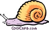 Cartoon snail Vector Clipart image