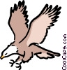 Vector Clip Art image  of a Cartoon eagles