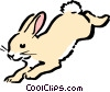 Vector Clip Art graphic  of a Cartoon rabbit