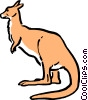 Vector Clip Art image  of a Cartoon kangaroo