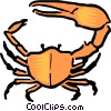 Vector Clipart picture  of a Cartoon crab