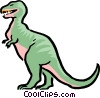 Vector Clipart image  of a Cartoon dinosaur