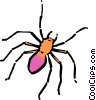 Cartoon spider Vector Clipart picture