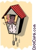 Cuckoo clock with turkey Vector Clipart picture