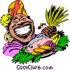 Vector Clipart graphic  of a Cartoon food platter