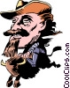 Vector Clip Art graphic  of a Cartoon Buffalo Bill
