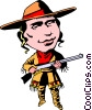 Vector Clip Art graphic  of a Calamity Jane