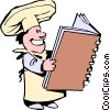 Vector Clipart image  of a Cartoon chefs
