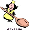 Cartoon chefs Vector Clipart illustration