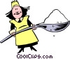 Vector Clip Art image  of a Cartoon chefs