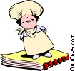 Cartoon chef Vector Clip Art picture