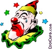 Vector Clip Art image  of a Circus clowns