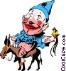 Cartoon clown Vector Clipart illustration