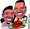 Cartoon couple Vector Clipart picture