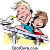 Cartoon couple on vacation Vector Clip Art image
