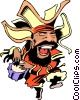 Vector Clipart graphic  of a Cartoon bongo player
