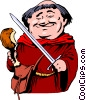 Vector Clipart graphic  of a Cartoon Friar Tuck