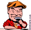 Vector Clipart graphic  of a Cartoon connoisseur