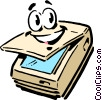 Vector Clip Art image  of a Cartoon office