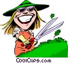 Gardening cartoon Vector Clipart illustration