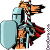 Cartoon knights Vector Clipart graphic