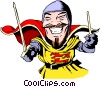 Cartoon knights Vector Clipart illustration
