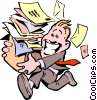 Cartoon office Vector Clip Art image