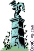 Vector Clip Art image  of a Cartoon gatepost