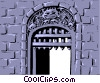 Vector Clipart picture  of a Cartoon castle gate