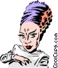 Cartoon bride of Frankenstein Vector Clipart picture