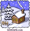 Vector Clip Art graphic  of a Winter scenes
