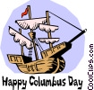 Vector Clipart graphic  of a Happy Columbus Day!